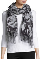 Lord & Taylor Tonal Rose Blanket Scarf