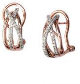 Effy 14K Rose And White Gold Diamond Earrings