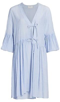 MUNTHE Efficient Bell-Sleeve Shift Dress
