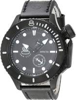 Invicta Men's 'Russian Diver' Swiss Quartz Stainless Steel and Leather Casual Watch, Color: (Model: 22013)