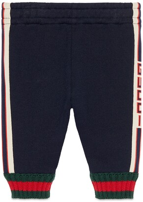 Gucci Baby trousers with jacquard trim