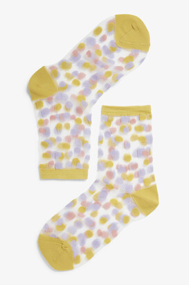 Monki Transparent socks