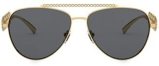 Versace 59MM Aviator Sunglasses