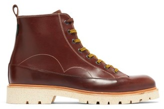 Paul Smith Buhl Topstitched Leather Boots - Brown