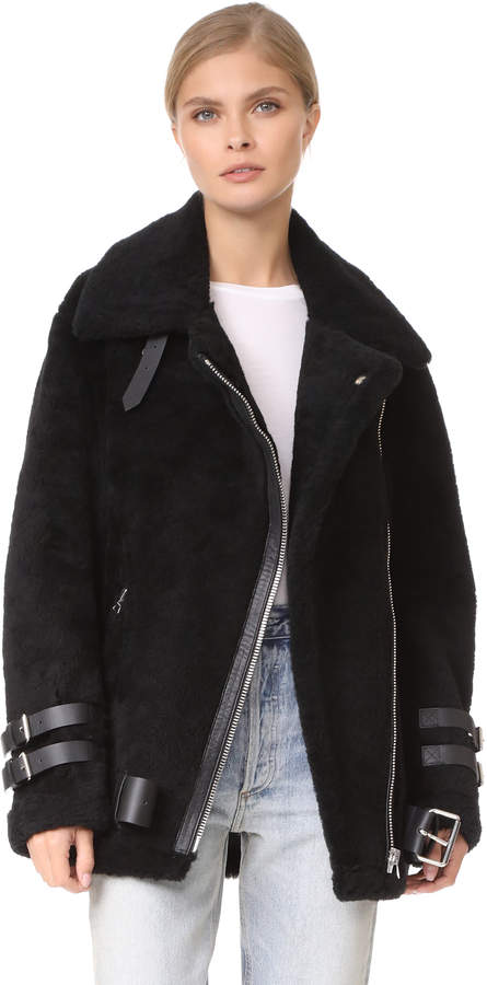 Acne Studios Velocite Shearling Moto Jacket