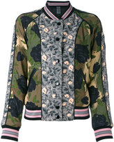Coach printed reversible bomber jacket - women - Polyester/Viscose - 4