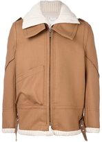 Sacai layered jacket - men - Wool - I