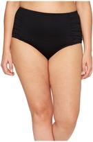 Jantzen Plus Size Solids High Waist Bottom Women's Swimwear