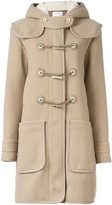 Carven toggle fastening duffle coat - women - Polyamide/Virgin Wool/Acetate/Viscose - 38