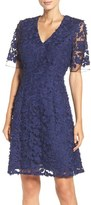 Adrianna Papell Lace Mesh Fit & Flare Dress