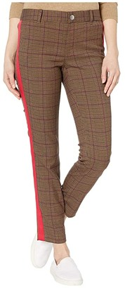 Tommy Hilfiger Adaptive Riley Skinny Plaid Pants (Penny Brown/Multi) Women's Casual Pants