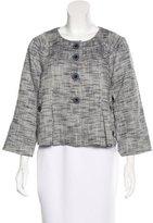 Tibi Tweed Collarless Jacket w/ Tags