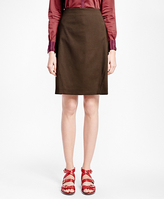Brooks Brothers Pick-Stitched A-Line Skirt