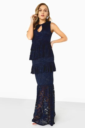 Girls On Film Navy Lace Maxi Dress