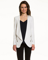 Le Château Woven Collarless Open-Front Blazer