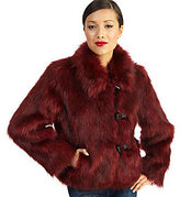 Rachel Zoe Luxe Faux Fur Toggle Coat with Wing Collar