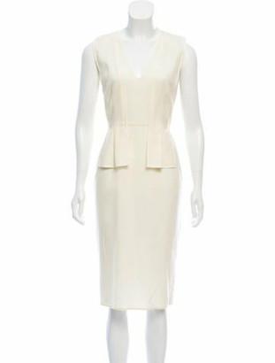 Narciso Rodriguez Sleeveless Midi Dress Cream