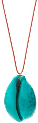 Aurelie Bidermann Merco Lacquered-shell Charm Necklace - Green