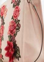 MANGO Floral embroidery shopper bag