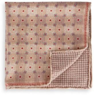 Brunello Cucinelli Reversible Wool Pocket Square