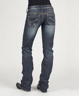 Stetson Blue Denim 'S' Contrast-Stitch Jeans - Women & Plus