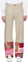 Junya Watanabe Tan Linen Patchwork Levi's Edition Trousers