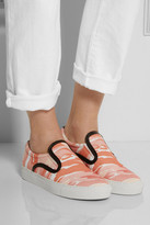 Mother of Pearl Achilles camouflage-print canvas slip-on sneakers