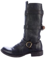 Fiorentini+Baker Buckle-Accented Leather Boots