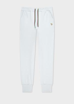 Paul Smith Women's Light Blue 'Zebra' Logo Organic-Cotton Sweatpants