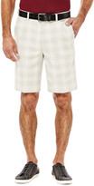 Haggar Cool 18 Simple Plaid Short - Straight Fit, Flat Front, Expandable Waistband