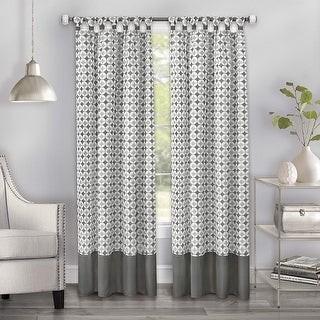 Achim Callie Midnight Diamond Cuff Tab-Top Window Panel, 52x84 Inches