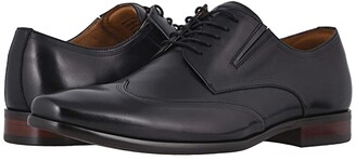 Florsheim Postino Wing Tip Oxford (Black Smooth) Men's Shoes