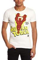 Logoshirt T-Shirt Slim Fit, Marvel Human Torch- Flame on, Off-White, XXL