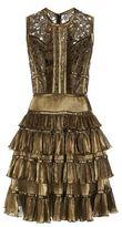 Elie Saab Tiered Stars and Ruffles Mini Dress
