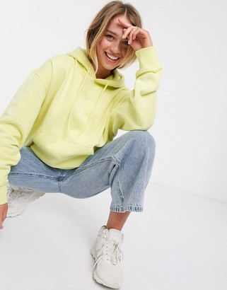 Weekday Alisa organic cotton oversized hoodie in pale yellow