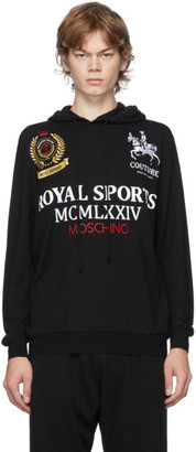 Moschino Black Rugby Polo Hoodie