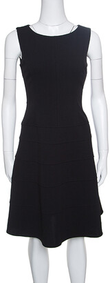 Tommy Hilfiger Black Sleeveless Paneled A- Line Dress S
