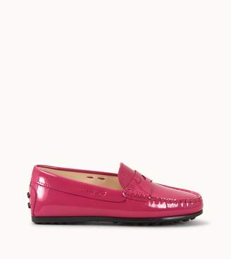 Tod's Tods Junior City Gommino Loafers in Patent Leather