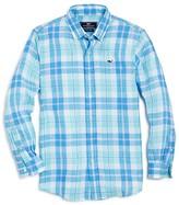 Vineyard Vines Boys' Upper Bluff Plaid Button Down Shirt - Big Kid