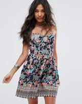 Boohoo Floral Print Summer Dress