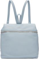 Kara Blue Leather Backpack