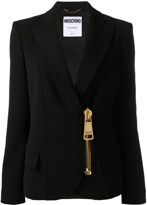 Moschino Zipped Fitted Blazer