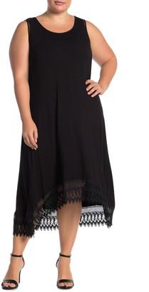Nina Leonard Sleeveless Scoop Neck Hi/Lo Dress (Plus Size)