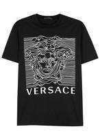 Versace Black Medusa-print Cotton T-shirt