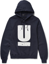 Undercover - Printed Loopback Cotton-jersey Hoodie