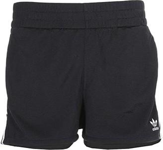 adidas adiColor 3-Stripes Shorts (Black/White) Women's Shorts