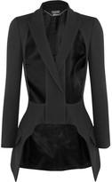 Alexander McQueen Cutout Wool And Silk-blend Blazer - Black