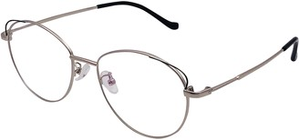 XYAS Cat Ears Retro Metal Glasses For Women Reading Clear Lens Cute Eyeglasses High Quality Frame