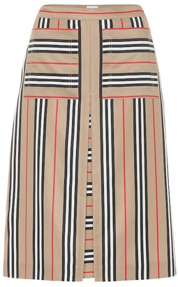 Burberry Icon Stripe A-line skirt