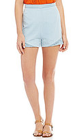 GB Chambray Ruffle Shorts